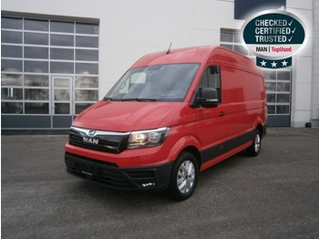MAN TGE 3.180 4X2 SB Rot Foliert - closed box van