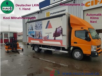 Mercedes-Benz Canter 8C18 Edscha 3.5t.NL Mitnahmestapler 1.5t. - curtain side van