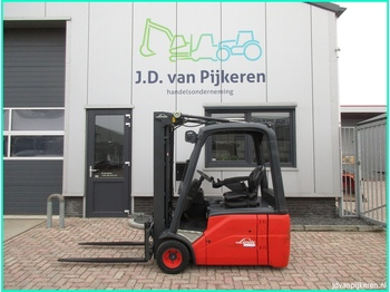 Linde E18 386 triplex freelift sideshift! - 3-wheel front forklift