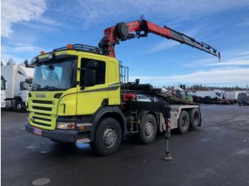 Container transporter/ swap body truck SCANIA P420: picture 1