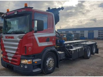 Container transporter/ swap body truck SCANIA R420 6x2 HMF1820 K4