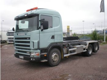Container transporter/ swap body truck SCANIA R 144 GB 460