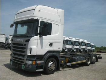 Container transporter/ swap body truck Scania R440 EEV Jumbo BDF 7,82