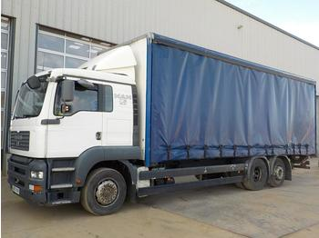 Curtainsider truck 2007 MAN TGA26.320