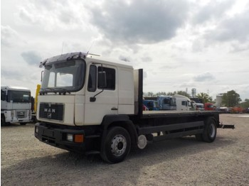 Flatbed truck MAN 18.322 (BIG AXLE/ MANUAL PUMP)